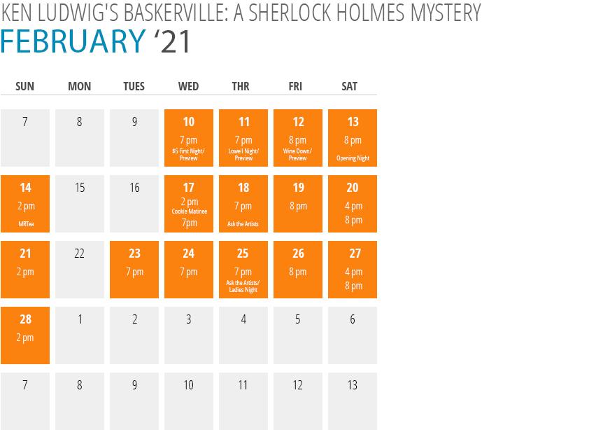 Ken Ludwig's Baskerville: A Sherlock Holmes Mystery Calendar